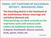 Tribal Art Paintings of Hazaribag Part 7