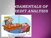 Fundamentals of Credit Analysis