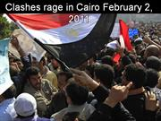 EGYPT-Clashes rage in Cairo-February 2-2011
