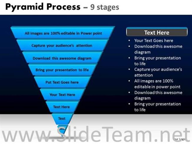 inverted pyramid diagram for business-powerpoint diagram, Powerpoint templates