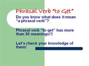Phrasal Verb