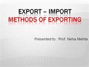EXPORT  IMPORT