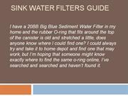 Sink Water Filters Guide