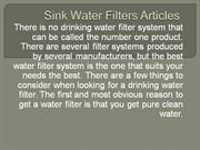 Sink Water Filters Articles