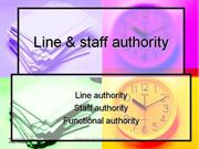 line & staff authority