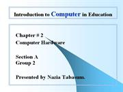 Introduction to Computer in Education