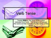 verb tense