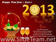 2013 New Year Celebration With Wines And Champagnes