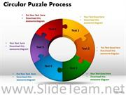 6 stages circular jigsaw puzzle flow process