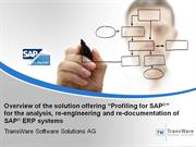 Profiling for SAP - Analysis and redocumentation of SAP ERP
