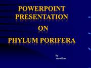 ppt on porifera