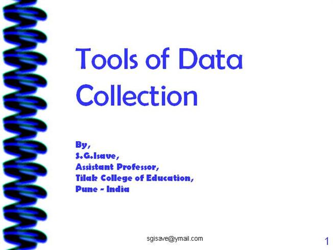 Tools of Data Collection |authorSTREAM