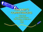 COMPETENCIES OF TEACHING