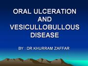 oral ulceration and vb disease