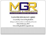 Nanotechnology Quiz for Author stream