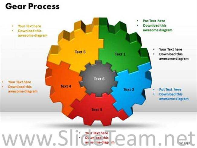 Company Gear Process Ppt Background Powerpoint Diagram