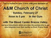 A&M Church Blood Drive