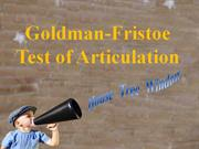 Goldman-Fristoe Test of Articulation