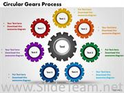Round Gears PPT Chart