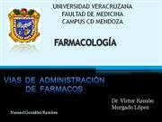 vias de administracion de farmacos