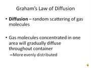 Grahams Law of Diffusion