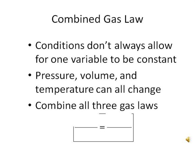 Combined Gas Law |authorSTREAM