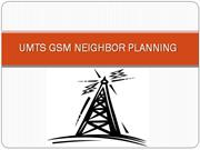 Umts Gsm Neighbor Planning.......planning