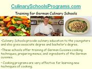 how to choose career in german culinary art schools