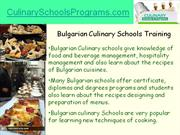 how to choose career in bulgarian culinary art schools