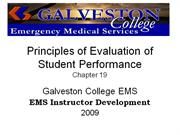 Principles of Evaluation of Student Performance_Ch19