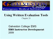 Using Written Evaluation Tools_Ch20