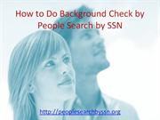 How to do a background check by People Search by SSN