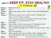 english 7 - unit 11 - keep fit, stay healthy