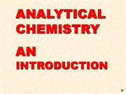 Introduction to analytical