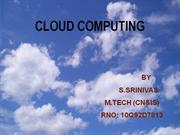 Cloud computing...