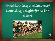 establishing a climate