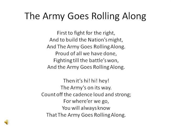 The Army Goes Rolling Along |authorSTREAM