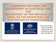 AGREEMENT BETWEEN THE GOVERNMENT OF AUSTRALIA AND THE GOVERNMENT OF TH