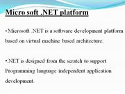 ppt on .net framework
