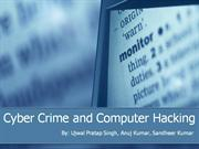 Cyber Crime and Computer Hacking