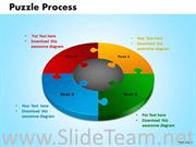 Puzzle Process Marketing With 4 Staged