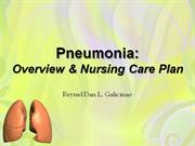 Pneumonia -Overview and NCP