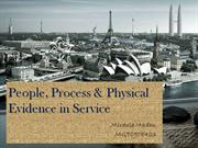 people,process & physical evidence