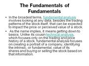 The Fundamentals of Fundamentals