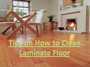 tips on how to clean laminate floor