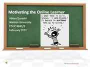 Motivating the Online Learner