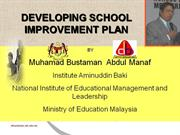 School Improvement Plan by M Bustaman IAB KPM 2010