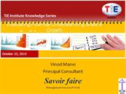 Business Plan Basics-Vinod Manvi (Savoire faire oct 2010)