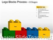 8 Staged Lego Blocks For Process Flow
