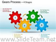 Turning Gears PowerPoint Diagram